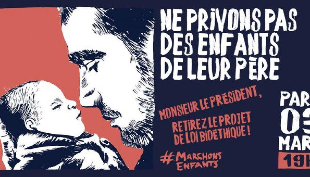 Retour de La Manif pour Tous devant l'Elysée le 3 mars