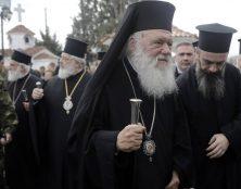 L'archevêque Iéronimos, chef de l'Eglise orthodoxe grecque, a béni les patrouilleurs anti-migrants
