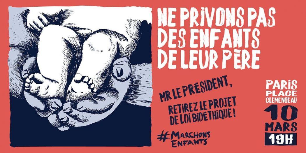 Pour le retrait du projet de loi anti-éthique, rassemblement le 10 mars devant l'Elysée