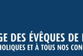 Message des évêques de France