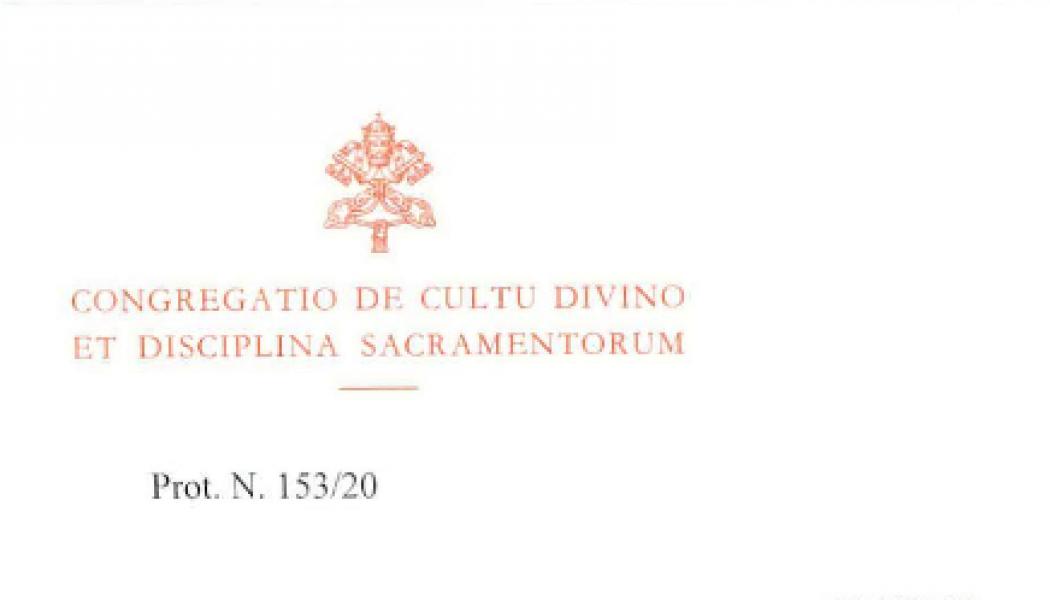 Décret de la Congrégation pour le Culte Divin et La Discipline des Sacrements pour la Semaine Sainte