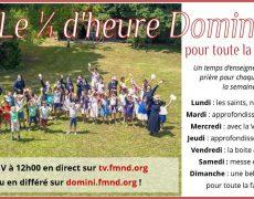 Prier avec la Famille Missionnaire de Notre-Dame sur la WebTV Domini