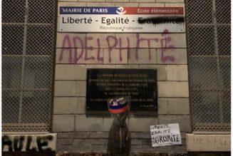 Une candidate lesbienne diffuse la photo de la profanation d'une plaque rendant hommage aux juifs déportés