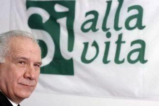Carlo Casini, fondateur du Mouvement pour la Vie en Italie, est décédé