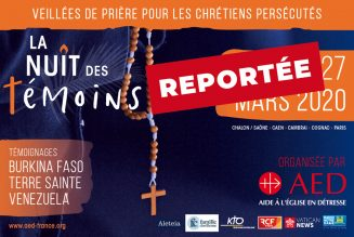 L'AED reporte la Nuit des Témoins 2020