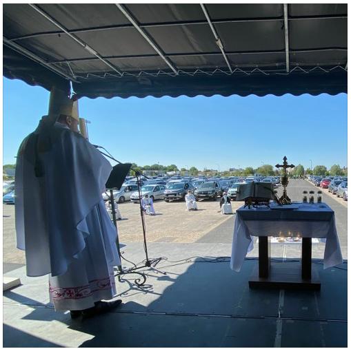 Succès de la messe en voitures dans le diocèse de Châlons