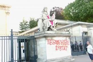 Dégradation d'une statue devant l'Assemblée : la police laisse faire