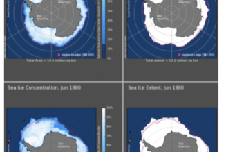 Il y a plus de glace au Pôle sud qu'il y a 40 ans