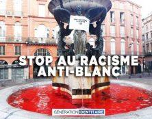 Ce matin à Toulouse, Génération identitaire dit stop au racisme anti-blanc