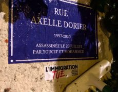 Lyon : des militants de Génération Identitaire ont rebaptisé de nombreuses rues en hommage à Axelle Dorier