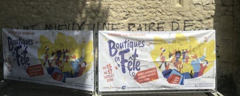 Vaucluse : Tags LGBT sur la cathédrale de Vaison-la-Romaine