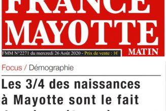 Mayotte :  ¾ des naissances sont le fait de mères étrangères