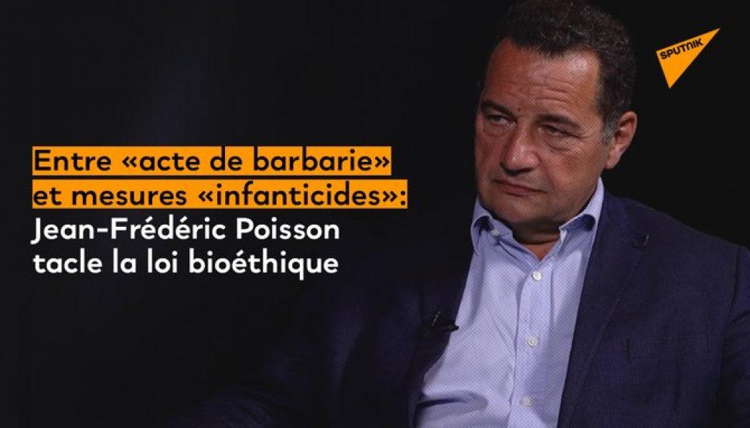 """Jean-Frédéric Poisson : """"L'amendement qui a été adopté sur l'interruption médicale de grossesse jusqu'à la veille de l'accouchement est un acte de barbarie"""""""