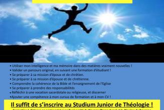 Le Studium junior de théologie fait sa rentrée