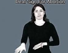 """""""Avortement"""" en langue des signes"""
