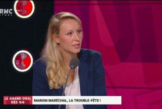 """Marion Maréchal : """"Une partie des Français qui se disent de droite se sentent orphelins"""""""