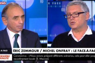 Débat entre Eric Zemmour et Michel Onfray