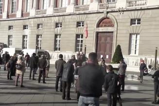 Manifestation pour la liberté de culte à Chambéry