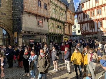 Vannes : plus de 300 personnes réclament le retour des messes publiques
