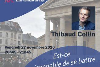 Conférence en direct de Thibaud Collin : est-il raisonnable de se battre pour la messe ?