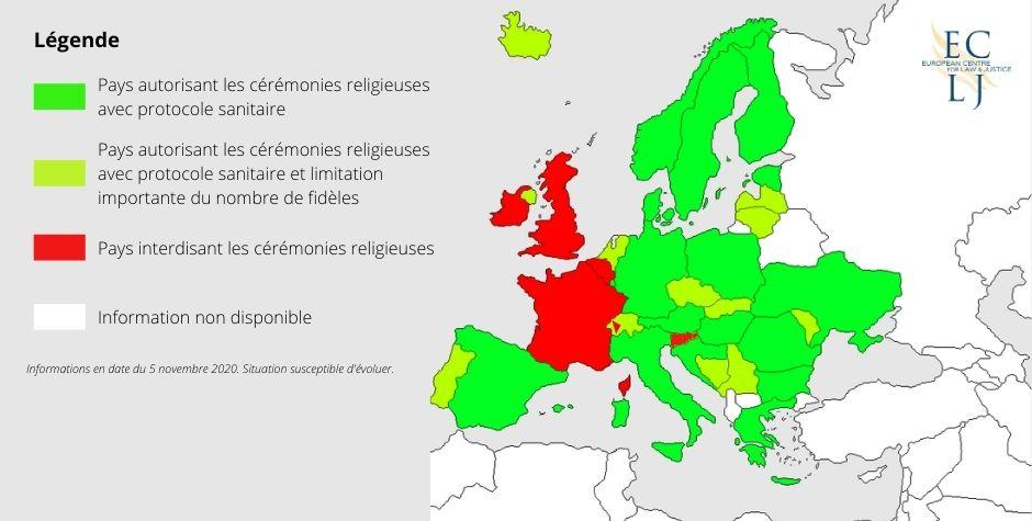 Coronavirus et liberté de culte : la France est le pays qui a la règlementation la plus restrictive