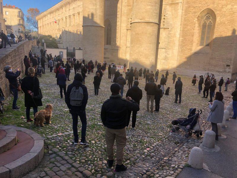 Manifestation pour la messe à Montpellier
