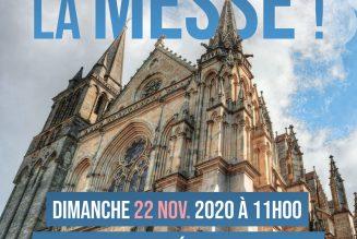 Manifestation pour la messe à Vannes