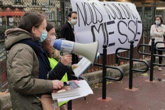 Manifestations pour la messe à Viroflay, Vendôme, Fontainebleau, Brest, Moulins, Lille, Toulouse, Vichy, Compiègne, Angers, Le Mans, Caen