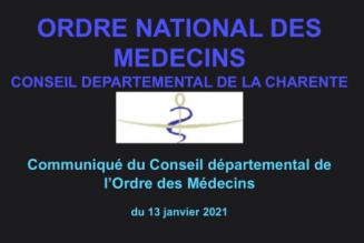 Un message du président du Conseil départemental de Charente de l'ordre des médecins sème le trouble