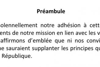"""Les catholiques pourraient-ils signer une charte comme celle """"des principes pour l'Islam de France"""""""