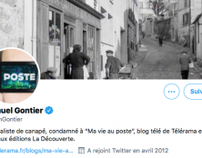 Samuel Gontier, journaliste de canapé pour des articles poubelle