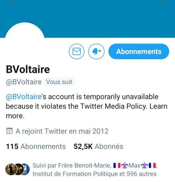Le prétexte de Twitter pour censurer Boulevard Voltaire