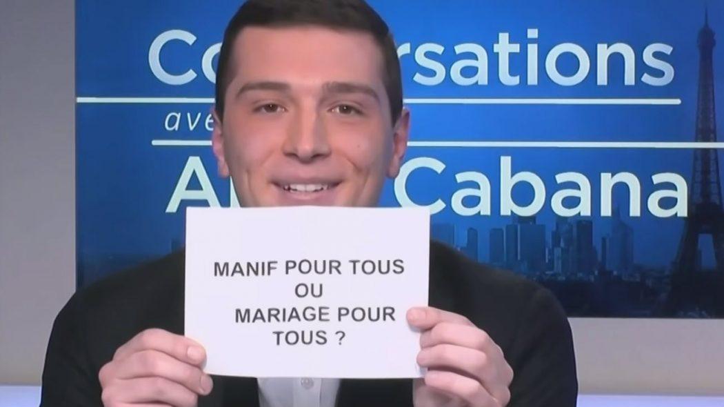 """Jordan Bardella (RN) : """"Le mariage pour tous est aujourd'hui un acquis"""""""