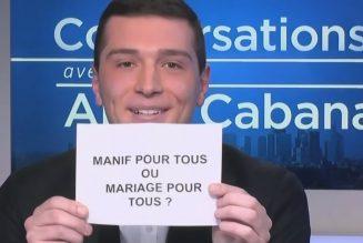 Jordan Bardella (RN) : «Le mariage pour tous est aujourd'hui un acquis»