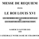 Strasbourg – Messe de Requiem pour le Roi Louis XVI, les membres de la famille royale et les martyrs de la Révolution
