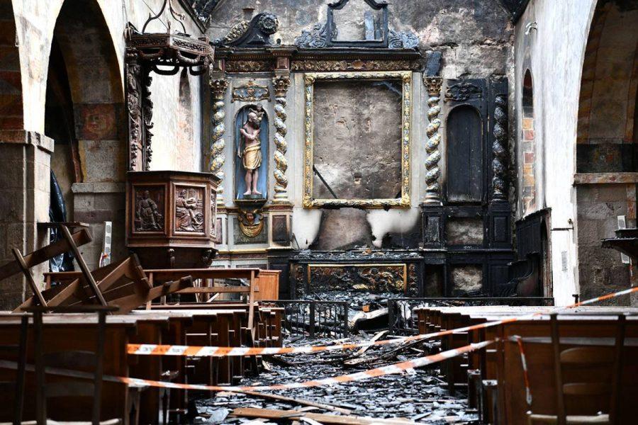 Une église incendiée en Corrèze