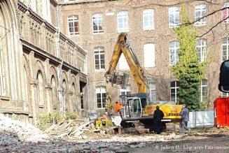 Destruction de la chapelle Saint-Joseph à Lille