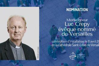 Mgr Luc Crépy nommé évêque de Versailles