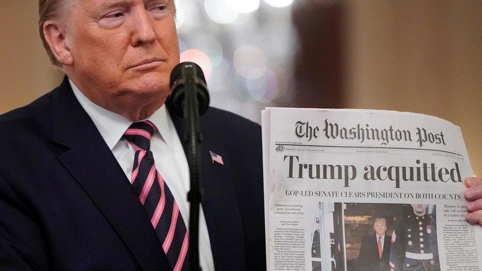 """Acquitté, Donald Trump déclare : """"Notre mouvement ne fait que commencer"""""""