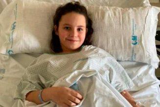 Teresita, 10 ans, missionnaire sur son lit d'hôpital
