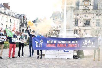 Action contre le projet de loi bioéthique à Compiègne