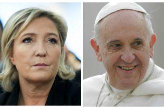 Le pape François serait inquiet des risques de voir Marine Le Pen gagner en 2022
