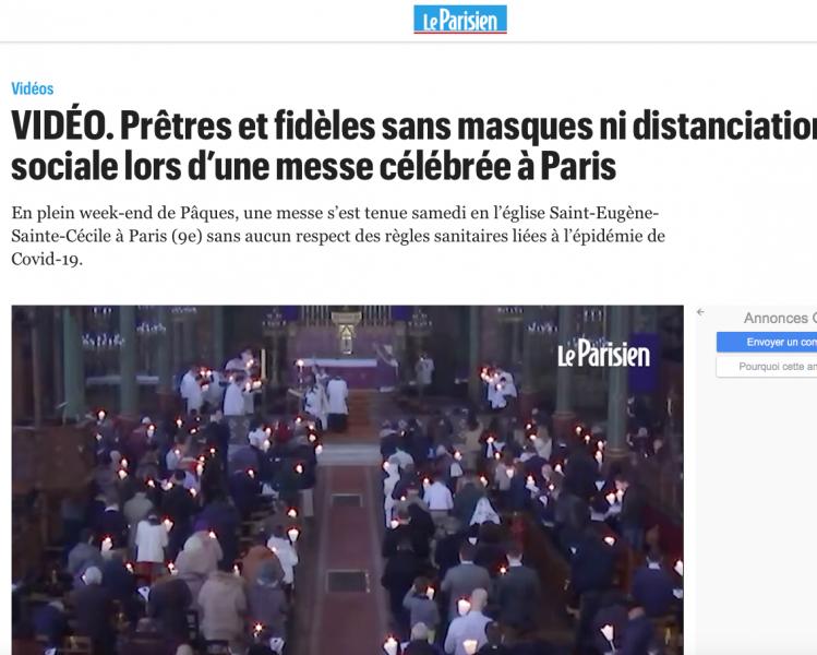 Procédure canonique et enquête du Parquet contre le curé de Saint-Eugène Sainte-Cécile