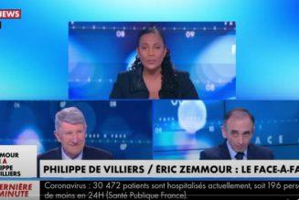 """Zemmour face à Villiers :  """"La priorité, c'est de lutter contre le Grand remplacement, contre la colonisation de notre territoire. Il faut un référendum sur l'immigration."""""""