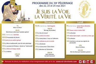 Voici le programme de ce 39ème pèlerinage de Chrétienté