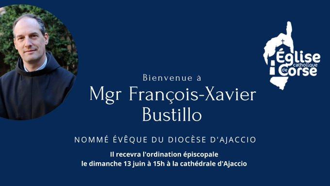 Le pape François a nommé Mgr François Bustillo évêque d'Ajaccio