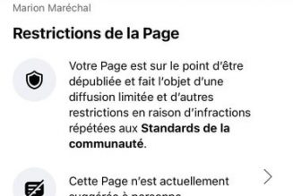 Facebook censure Marion Maréchal