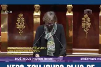 Motion de rejet déposée par le député Emmanuelle Ménard sur le projet de loi bioéthique