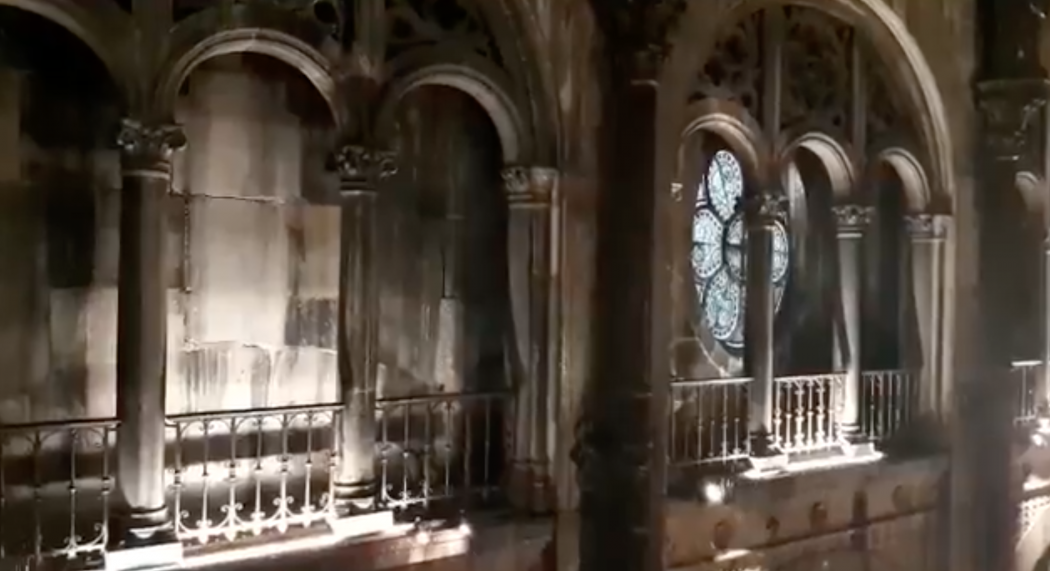Paris : il pleut dans l'église Saint-Augustin