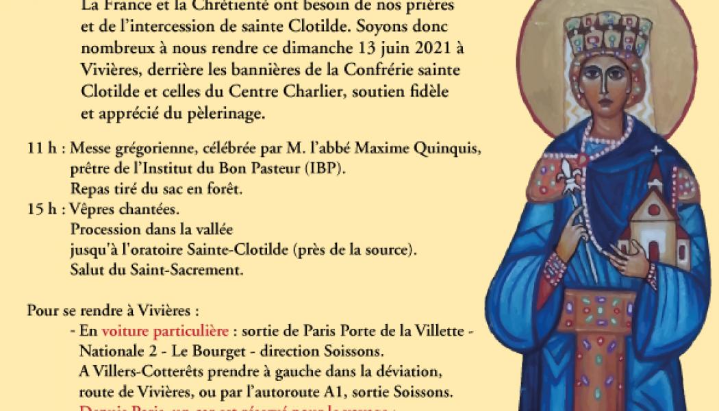 Pèlerinage à Sainte Clothilde à Vivieres ce 13 juin